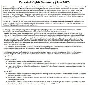 Parents Rights In Special Education Notice Of Procedural Safeguards >> Parents Right Summary Moving Students Forward