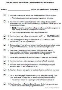 Jr-Sr Checklist