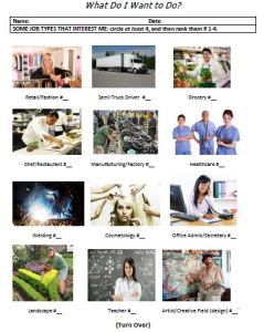 Job interests picture inventory pic