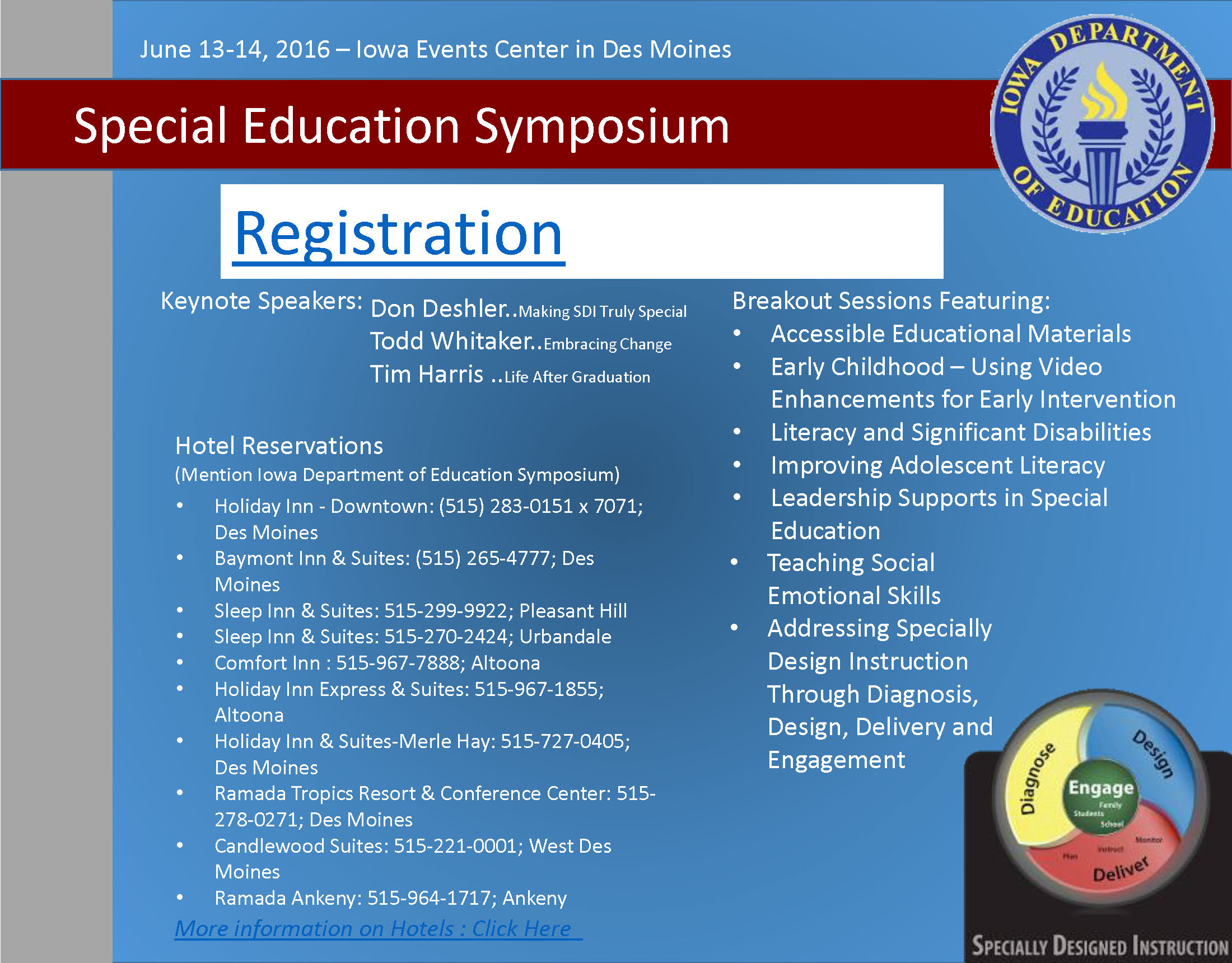 Registration link for Special Education Symposium! | Moving Students ...