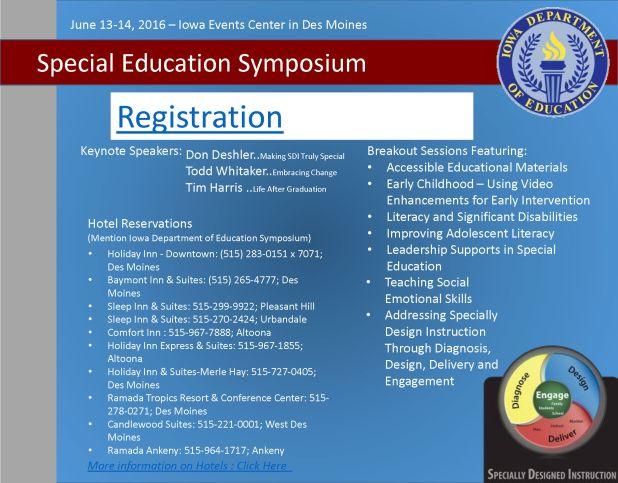 SPED Symposium Registration 2016