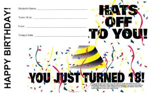 Age of Majority - Student Birthday Notice